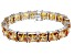 Bella Luce ® 113.00ctw Champagne Diamond Simulant Sterling Silver Bracelet 7.25