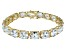Bella Luce ® 54.00ctw White Diamond Simulant 18k Yellow Gold Over Sterling Silver Bracelet