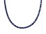 28.35ctw Tanzanite Simulant Sterling Silver Tennis Necklace 17