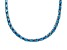 28.35ctw Neon Apatite Simulant Sterling Silver Tennis Necklace