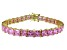 Bella Luce ® 27.35ctw Pink Diamond Simulant 18k Yellow Gold Over Sterling Silver Bracelet