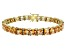 Bella Luce ® 27.35ctw Champagne Diamond Simulant 18k Yellow Gold Over Sterling Silver Bracelet