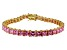 Bella Luce ® 22.40ctw Pink Diamond Simulant 18k Yellow Gold Over Sterling Silver Bracelet