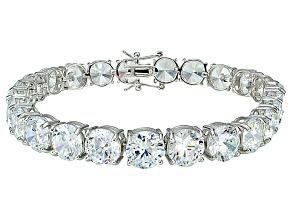 Bella Luce ® 48.60ctw White Diamond Simulant Sterling Silver Bracelet 7.25