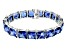 Bella Luce ® 113.00ctw Tanzanite Simulant Sterling Silver Bracelet 7.25