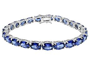 Bella Luce ® 28.08ctw Tanzanite Simulant Sterling Silver Bracelet 7.25