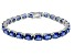 Bella Luce ® 28.08ctw Tanzanite Simulant Sterling Silver Bracelet 7.25