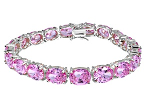 Bella Luce ® 54.00ctw Pink Diamond Simulant Sterling Silver Bracelet 7.25