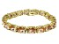 Bella Luce ® 54.00ctw Champagne Diamond Simulant 18k Yellow Gold Over Sterling Silver Bracelet
