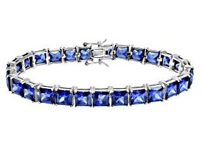 Bella Luce ® 49.90ctw Tanzanite Simulant Sterling Silver Bracelet 7.25