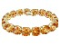 Bella Luce ® 84.47ctw Champagne Diamond Simulant 18k Yellow Gold Over Sterling Silver Bracelet
