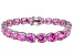 Bella Luce ® 68.00ctw Pink Diamond Simulant Sterling Silver Bracelet 7.25