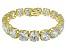 Bella Luce ® 84.47ctw White Diamond Simulant 18k Yellow Gold Over Sterling Silver Bracelet