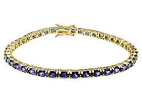 Bella Luce ® Tanzanite Simulant 18k Yellow Gold Over Sterling Silver Bracelet