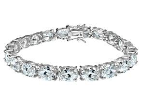 Bella Luce ® 38.90ctw White Diamond Simulant Sterling Silver Bracelet 7.25