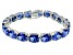 Bella Luce ® 54.00ctw Tanzanite Simulant Sterling Silver Bracelet 7.25