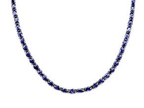 Bella Luce ® Esotica 50.37ctw Tanzanite Simulant Sterling Silver Tennis Necklace