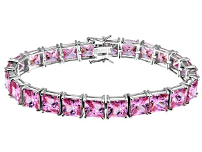 Bella Luce ® 69.00ctw Pink Diamond Simulant Sterling Silver Bracelet 7.25