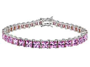 Bella Luce ® 22.40ctw Pink Diamond Simulant Sterling Silver Bracelet 7.25