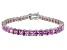 Bella Luce ® 22.40ctw Pink Diamond Simulant Sterling Silver Bracelet 7.25