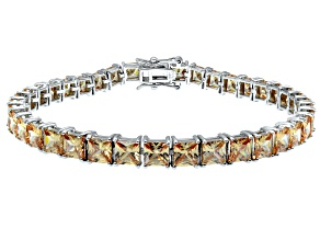Bella Luce ® 22.40ctw Champagne Diamond Simulant Sterling Silver Bracelet 7.25