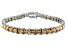 Bella Luce ® 22.40ctw Champagne Diamond Simulant Sterling Silver Bracelet 7.25