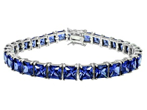 Bella Luce ® 27.35ctw Tanzanite Simulant Sterling Silver Bracelet 7.25