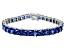 Bella Luce ® 27.35ctw Tanzanite Simulant Sterling Silver Bracelet 7.25
