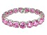 Bella Luce ® 84.47ctw Pink Diamond Simulant Sterling Silver Bracelet 7.25