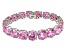 Bella Luce ® 84.47ctw Pink Diamond Simulant Sterling Silver Bracelet 7.25