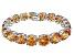 Bella Luce ® 84.47ctw Champagne Diamond Simulant Sterling Silver Bracelet 7.25