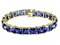 Bella Luce ® 92.00ctw Tanzanite Simulant 18k Yellow Gold Over Sterling Silver Bracelet