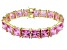 Bella Luce ® 113.00ctw Pink Diamond Simulant 18k Yellow Gold Over Sterling Silver Bracelet