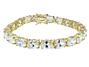 Bella Luce ® 38.90ctw White Diamond Simulant 18k Yellow Gold Over Sterling Silver Bracelet