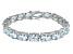 Bella Luce ® 54.00ctw White Diamond Simulant Sterling Silver Bracelet 7.25