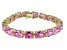 Bella Luce ® 54.00ctw Pink Diamond Simulant 18k Yellow Gold Over Sterling Silver Bracelet