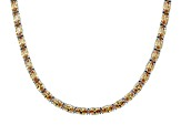 Bella Luce ® 28.35ctw Champagne Diamond Simulant 18k Yellow Gold Over Silver Tennis Necklace