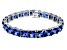 Bella Luce ® 69.00ctw Tanzanite Simulant Sterling Silver Bracelet 7.25