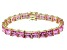 Bella Luce ® 69.00ctw Pink Diamond Simulant 18k Yellow Gold Over Sterling Silver Bracelet