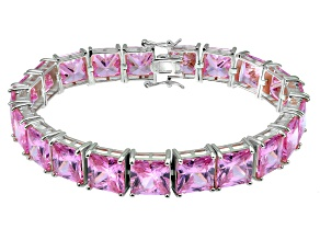 Bella Luce ® 92.00ctw Pink Diamond Simulant Sterling Silver Bracelet 7.25