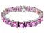 Bella Luce ® 92.00ctw Pink Diamond Simulant Sterling Silver Bracelet 7.25