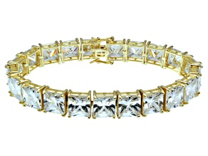Bella Luce ® 92.00ctw White Diamond Simulant 18k Yellow Gold Over Sterling Silver Bracelet