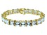 Bella Luce ® 92.00ctw White Diamond Simulant 18k Yellow Gold Over Sterling Silver Bracelet