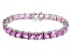 Bella Luce ® 49.90ctw Pink Diamond Simulant Sterling Silver Bracelet 7.25
