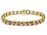 Bella Luce ® 49.90ctw Champagne Diamond Simulant 18k Yellow Gold Over Sterling Silver Bracelet