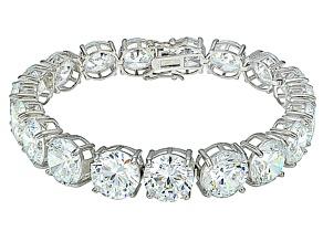 Bella Luce ® 84.47ctw White Diamond Simulant Sterling Silver Bracelet 7.25