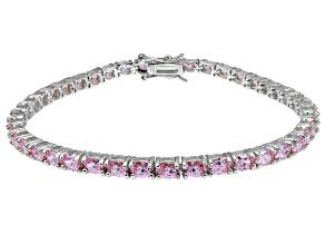 Bella Luce ® Pink Diamond Simulant Sterling Silver Bracelet 7.25