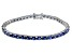 Bella Luce ® Tanzanite Simulant Sterling Silver Bracelet 7.25