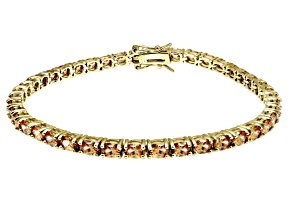 Bella Luce ® Champagne Diamond Simulant 18k Yellow Gold Over Sterling Silver Bracelet