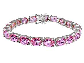 Bella Luce ® 38.90ctw Pink Diamond Simulant Sterling Silver Bracelet 7.25